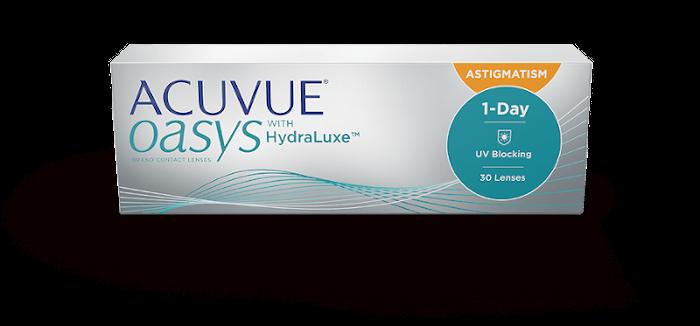 ACUVUE® OASYS 1-DAY con tecnologia HydraLuxe™ for ASTIGMATISM – Lenti a contatto toriche giornaliere per astigmatismo