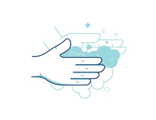 Lavarsi le mani prima di prendere in mano le lentine