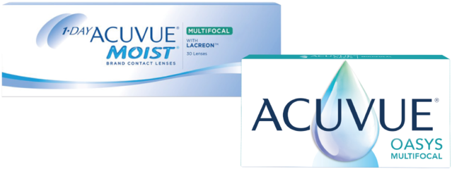 Lenti a contatto 1-DAY ACUVUE® MOIST MULTIFOCAL e ACUVUE® OASYS MULTIFOCAL