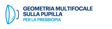 Geometria multifocale sulla pupilla per la presbiopia